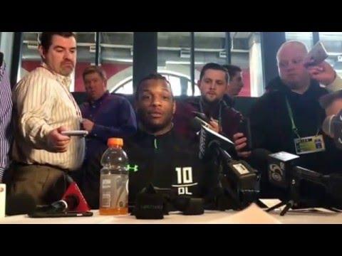 NFL Combine Update Michigan State Spartan Shilique Calhoun #NFLCombine