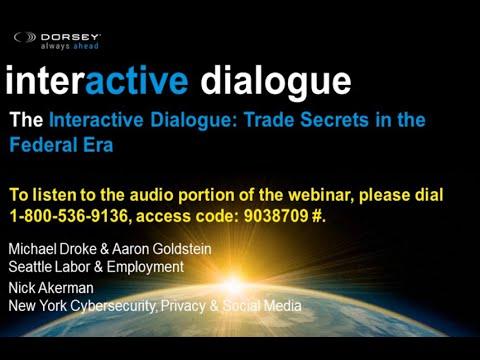 Webinar Playback: Trade Secrets in the Federal Era