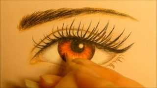 ♥ BELLA SWAN EYE DRAWING ♥ HOW TO DRAW EYE ♥ KRISTEN STEWART EYE PAINTING ♥ TWILIGHT EYE TUTORIAL