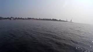Вид с катамарана  Хорлы  Херсонская область  Украина