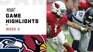 Seahawks vs. Cardinals Week 4 Highlights | NFL 2019