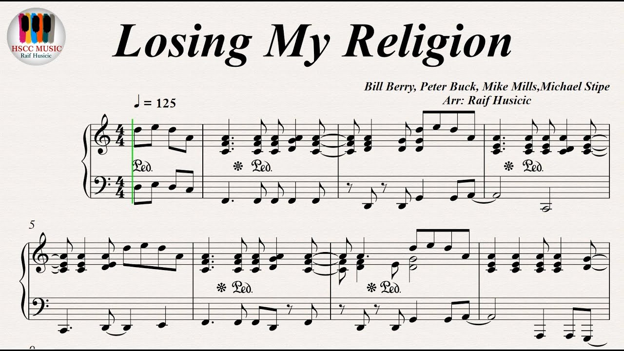 Losing my religion rem piano youtube losing my religion rem piano hexwebz Images