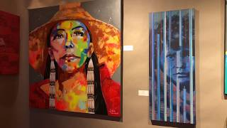 Best Of Show - Paintings Drawings Graphics Photography | Santa Fe Indian Market 2018 Clip 1