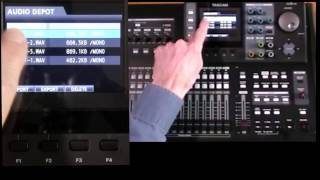 Tascam DP24/32SD Tutorial 8D: Export & Import