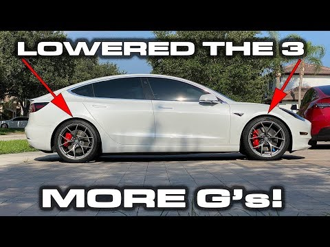 Lowering My Tesla Model 3 Performance With Eibach Springs & Adding Sway Bars