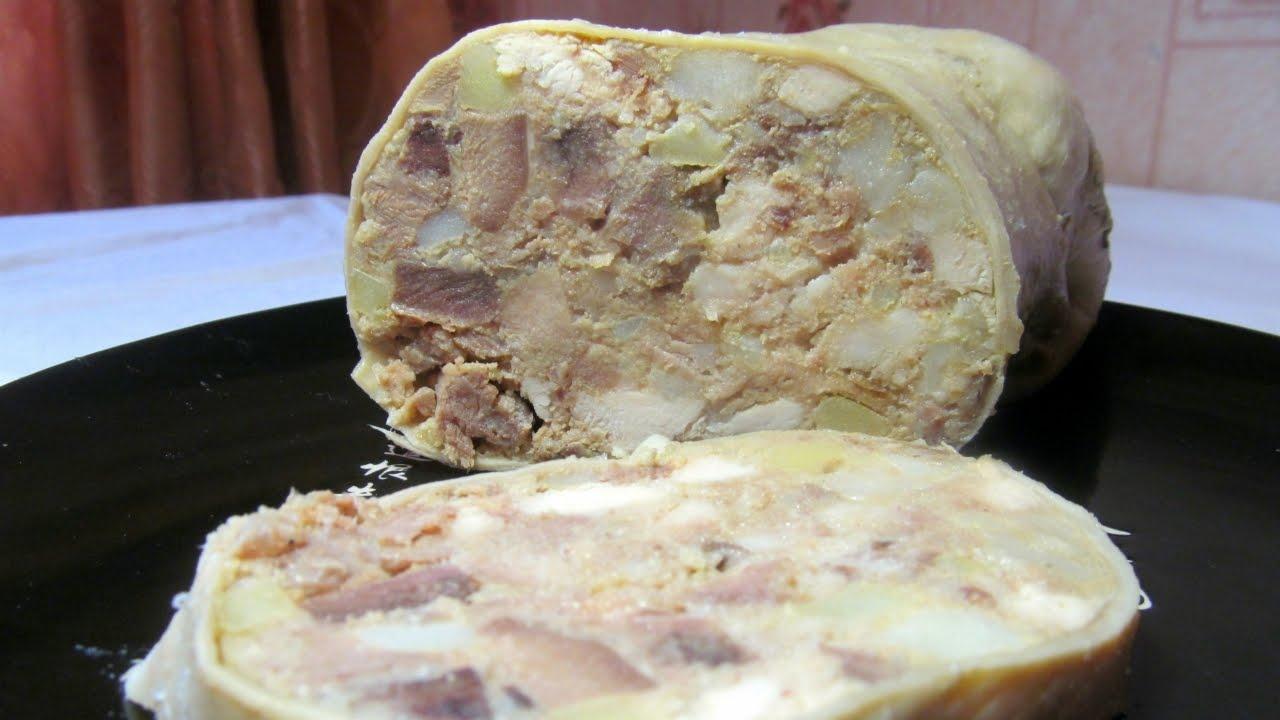 кулинария рецепты рулеты из свиного желудка
