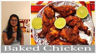 Baked chicken in Tamil/ h๐w to bake chicken/chicken baking in oven