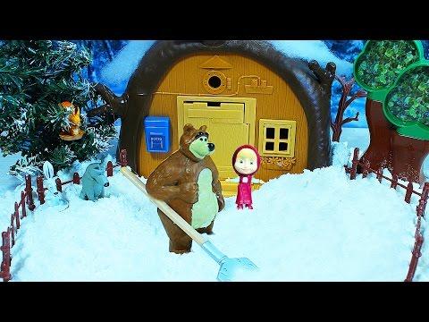 Маша и Медведь. Мультик с куклами. Вагон киндер сюрпризов для Маши. Игрушки Игры для детей