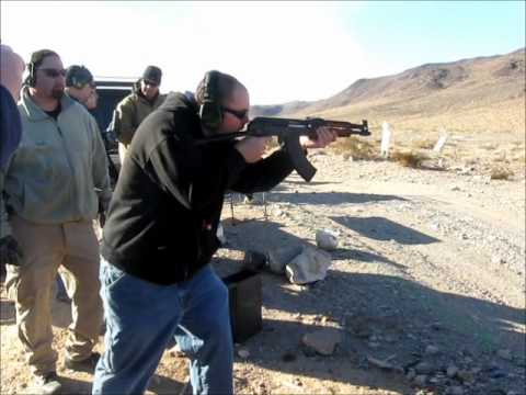 Andrew Shooting a Full Auto Draco conversion