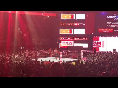 WWE RAW Cena singing Eagles fight song!