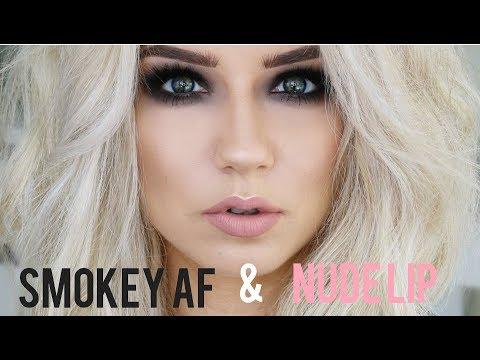 Smokey AF Eyes & Nude Lip | Quickie Tutorial