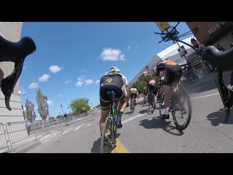 2017 Detroit Cycling Championship Cat 2-3 Final Lap (Crash in corner 3)
