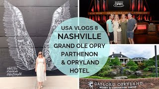 NASHVILLE VLOG | Grand Ole Opry & Gaylord Opryland Hotel  | USA Road Trip Vlogs 8 | Elle and Mimi