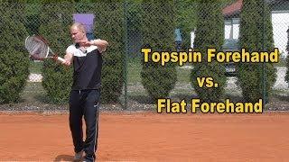 Topspin Forehand vs. Flat Forehand