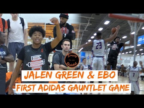 #1 2020 Jalen Green & EBO Gets 1st TOUGH Adidas Gauntlet Win !! Coached by NBA Legend Sam Mitchell