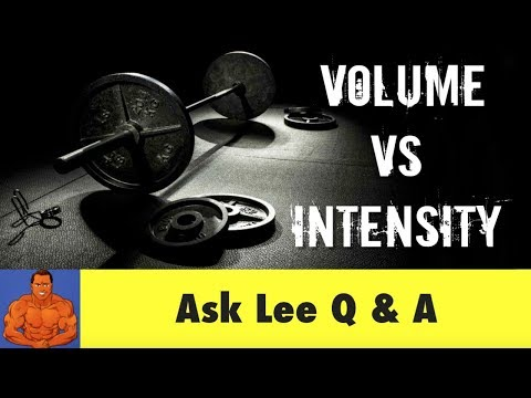 Training VOLUME vs Training INTENSITY what's the difference?