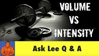 Training VOLUME vs Training INTENSITY - what's the difference?
