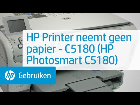 hp printer neemt geen papier c5180 hp photosmart c5180 youtube. Black Bedroom Furniture Sets. Home Design Ideas