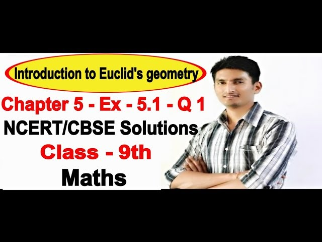 chapter 5 Exercise 5.1 q 1 - Introduction to Euclid's geometry class 9 maths NCERT Solutions