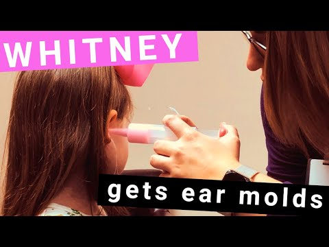 Getting ear molds for hearing aids.
