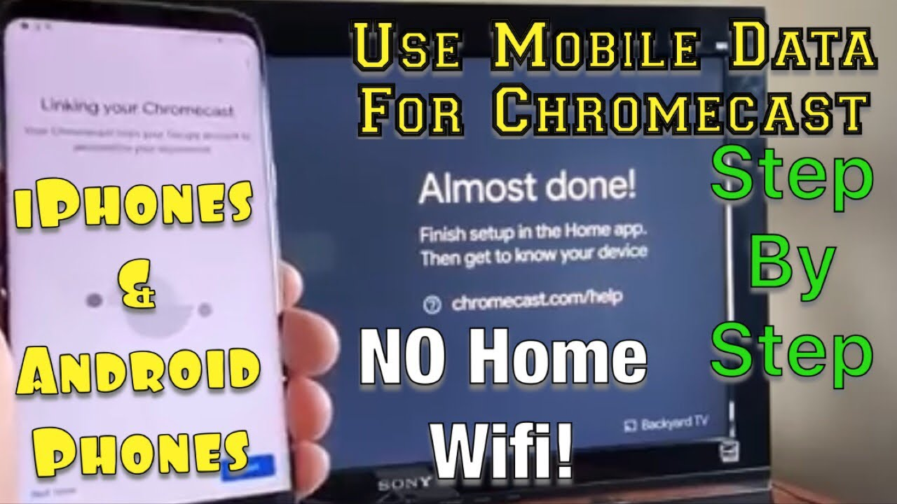 How to Use Phones Mobile Data (NOT Home Wifi Network) on Google Chromecast  (STEP BY STEP)