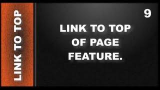 Web Design Tutorials for Xara Web Designer 9 Premium: Link to Top of Page Lesson 116