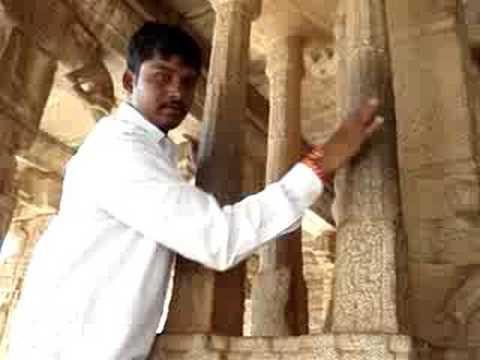 Hampi musical stone pillars