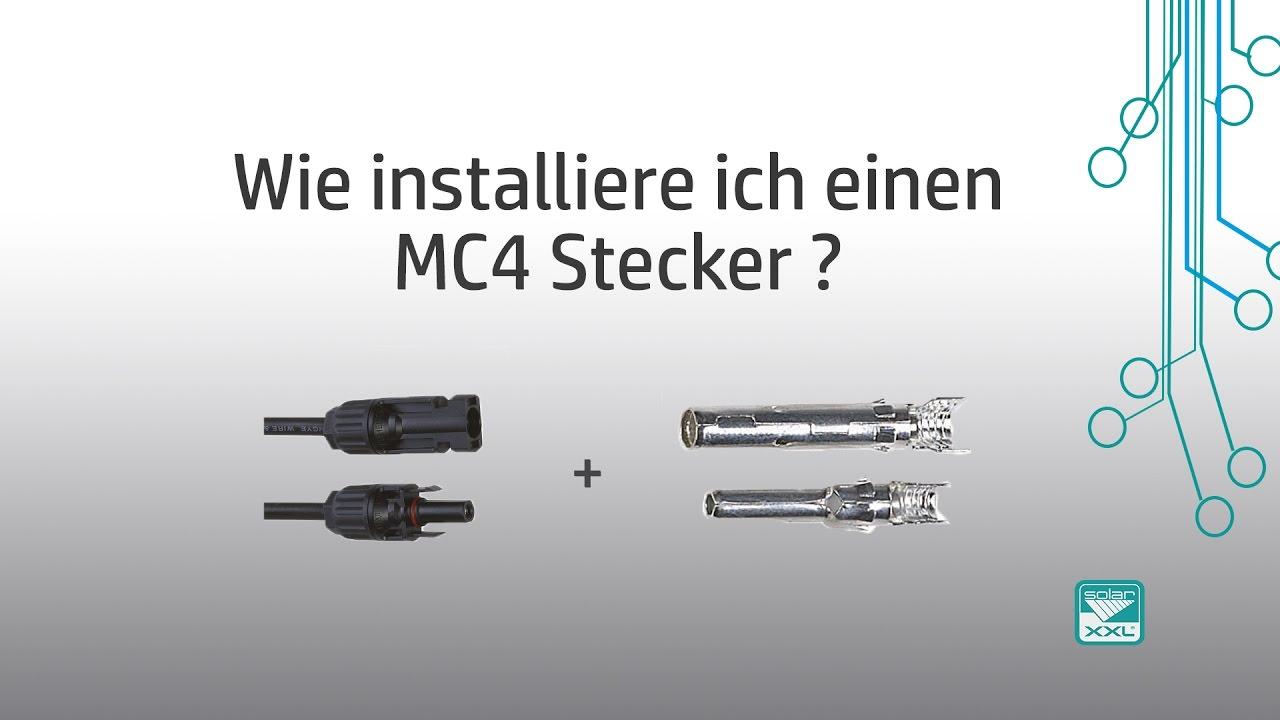 EnergyXXL - Wie installiere ich einen MC4-Stecker? - YouTube