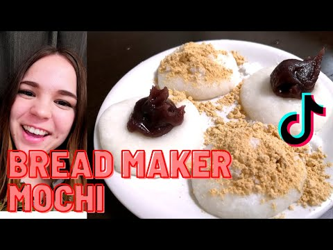How to make the EASIEST mochi in the bread maker from mochi rice by Kanekocooks on TikTok New Year
