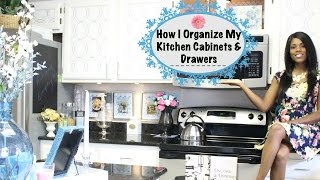Glam Home Beautiful Kitchen Tour pt 2 How I Organize My Cabinets & Drawers