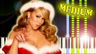 MARIAH CAREY - ALL I WANT FOR CHRISTMAS IS YOU - Piano Tutorial Video