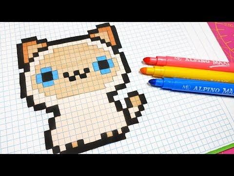 Handmade Pixel Art How To Draw A Kawaii Cat Pixelart