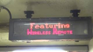 NYC Subway: Electronic Sign At Delancey Street/Essex Street