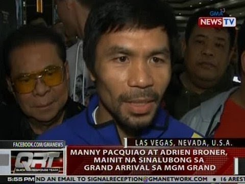 QRT: Pacquiao at Broner, mainit na sinalubong sa grand arrival sa MGM Grand