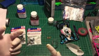 【ミニ四駆】Tamiya Mini 4WD How to Blacken/Dye Mass damper