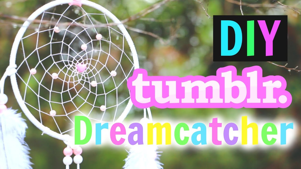 DIY Tumblr Dreamcatcher Tutorial How To Make A