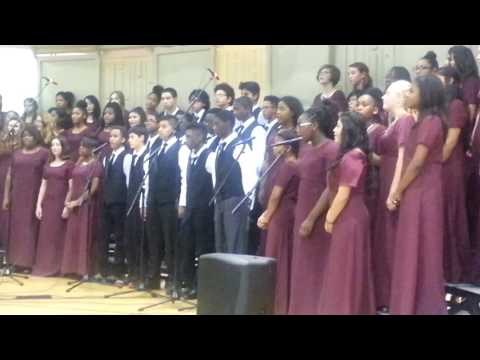 8th grade Potomac Middle school choir singing Bridge over troubled water