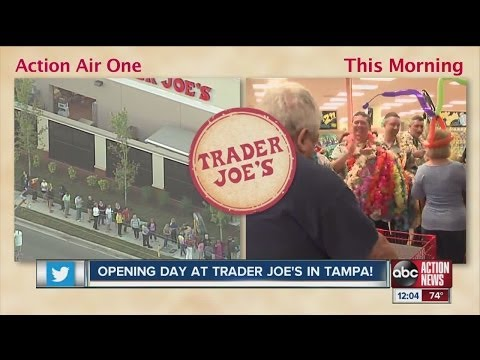 Opening day at Trader Joe's in Tampa
