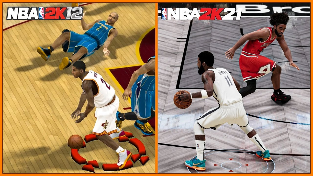 ANKLE BREAKERS evolution with KYRIE IRVING [NBA 2K12 - NBA 2K21]