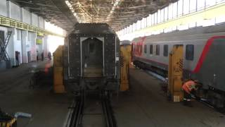 Paris to Moscow Express wheel change