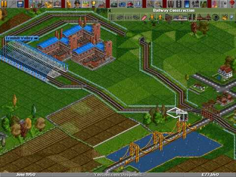 Transport Tycoon Deluxe (MicroProse Software, Inc.) (1994) - Train Building - YouTube