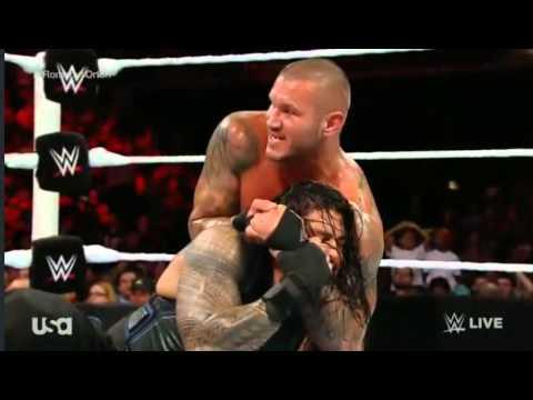 Randy Orton vs Roman Reigns  WWE Raw 8 september 8/9/2014