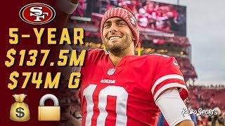 Live! 49ers Fans Reaction To Jimmy Garoppolo Signs to 5-Year, $137.5 Million Contract