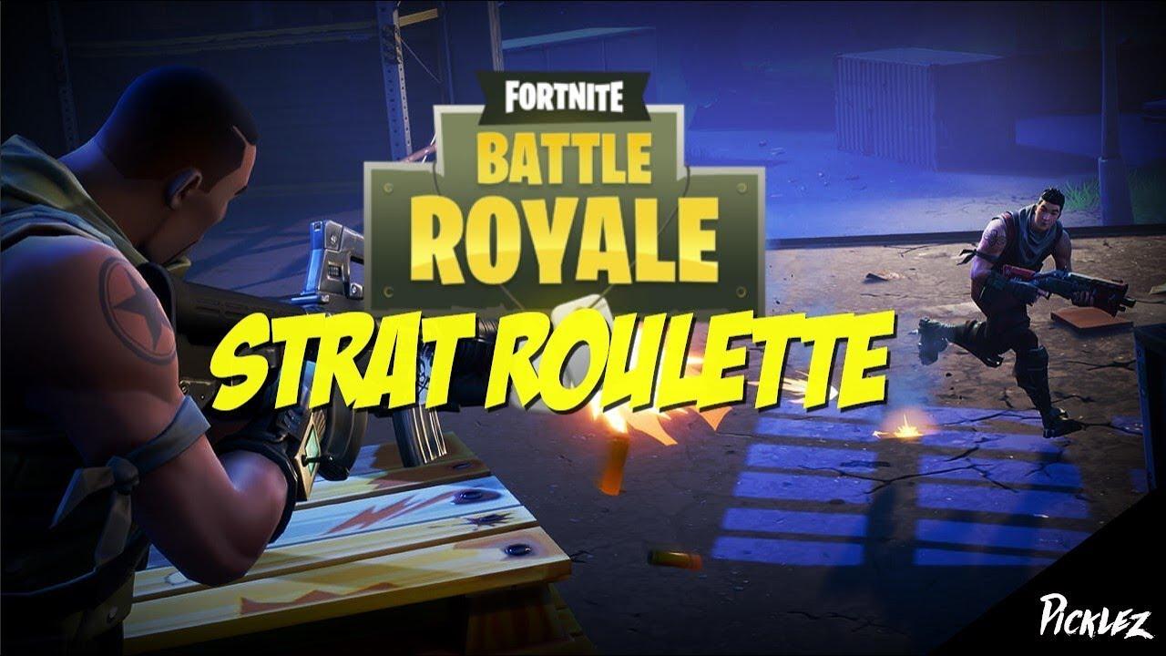 fortnite strat roulette challenge - fortnite strat roulette challenge