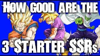 How good are the 3 STARTER SSRs? (SSR / UR Analysis, Summon Sprint) - Dragonball Z DOKKAN Battle
