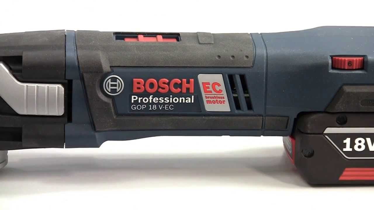 bosch gop 18 v ec professional cordless multi cutter youtube. Black Bedroom Furniture Sets. Home Design Ideas