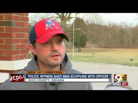 Gunshot from witness killed man scuffling with Indiana officer, autopsy reveals