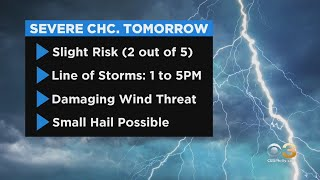 Philadelphia Weather: Chance Of Severe Storms Tuesday