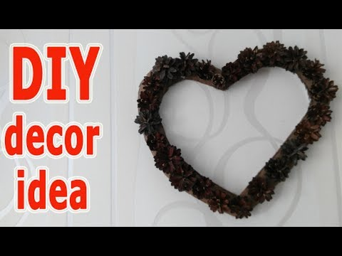 ★DIY room Decor. A heart of cones, cardboard and hot glue gun will decorate your home.