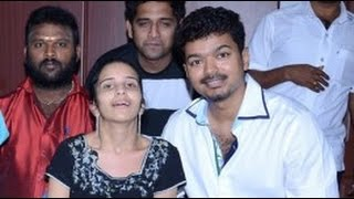 Vijay surprises ailing ardent fan | Puli Movie | Hot Tamil Cinema News